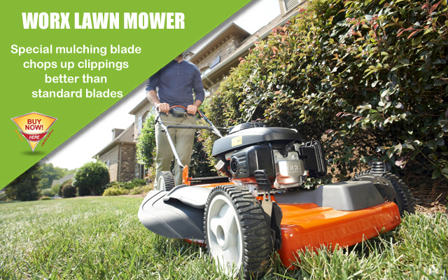 WORX 14-Inch 24-Volt Cordless Lawn Mower with IntelliCut